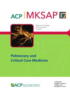 MKSAP 17 Pulmonary and Critical Care Medicine PDF
