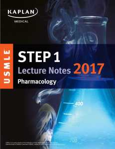 USMLE Step 1 Pharmacology 2017 PDF