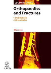 Orthopaedics and Fractures Lecture Notes 4th Edition PDF
