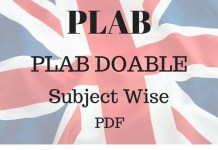 PLAB Doable Subject Wise PDF