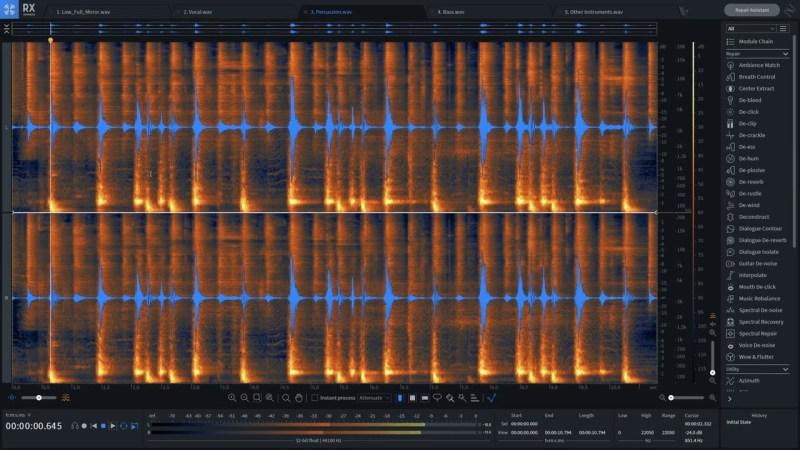 Restauration audio iZotope RX