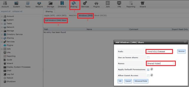 add Windows(SMB) share