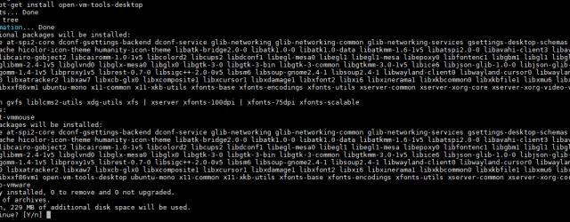 Install Open VM Tools Ubuntu 18.04