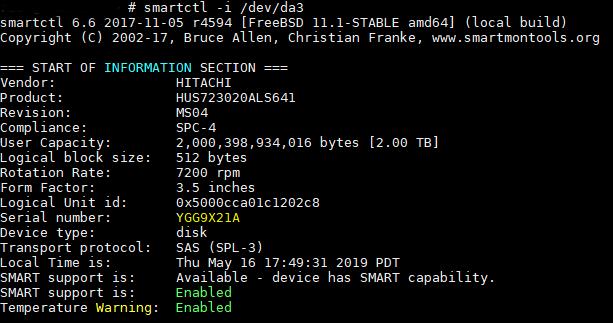 disk serial number