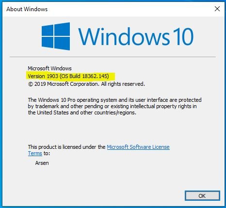 Windows 10 May 2019 Update Version 1903 Download - Computer
