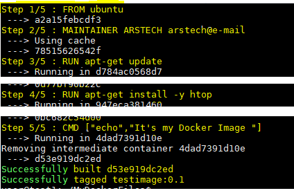Create Docker Image From Dockerfile
