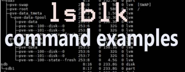 Linux lsblk command examples