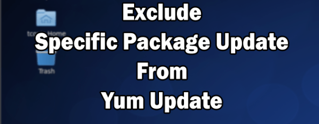 yum update exclude package