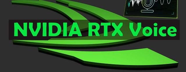 NVIDIA RTX Voice on GTX