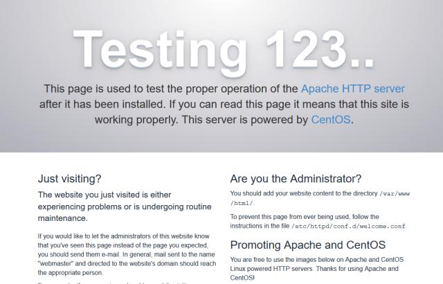 Apache server test page