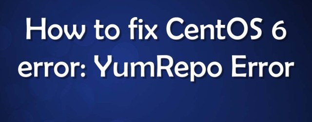 YumRepo Error All mirror URLs