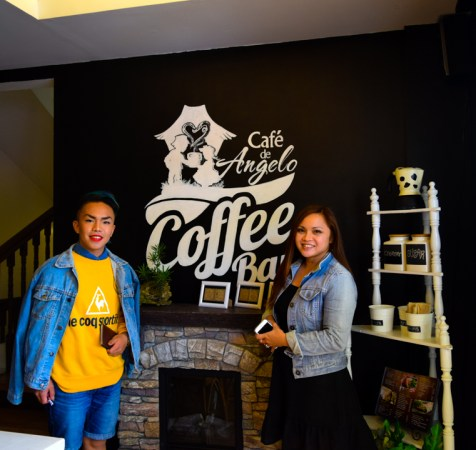 the BLOGGER and Ms. Row Quintos Mendoza owner of the Cafe De Angelo Coffee Bar.