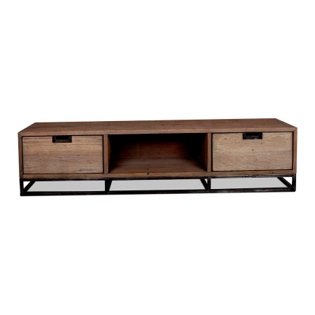tv moebel noby industrial style massivholz 170cm