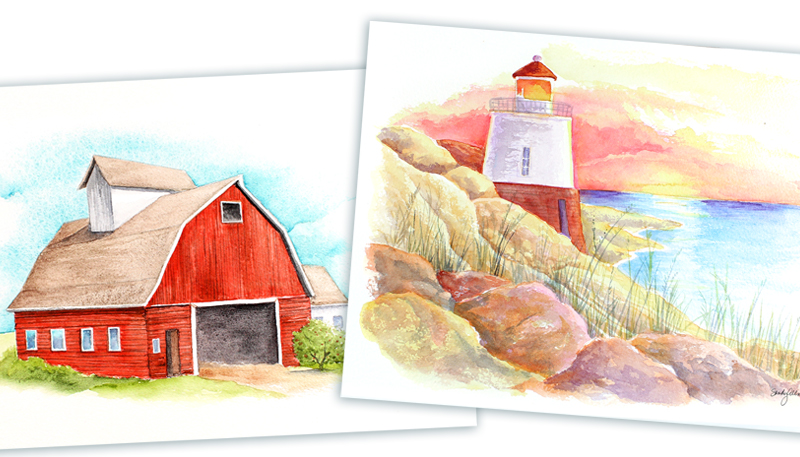 Paintalong Watercolor Landscapes