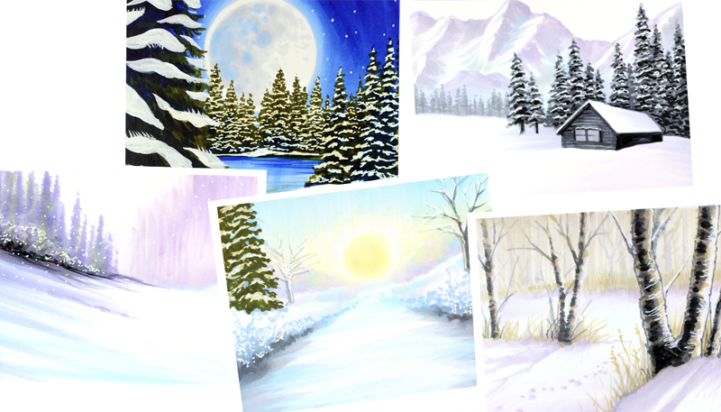 Mini Copic Course: Winter Wonderland