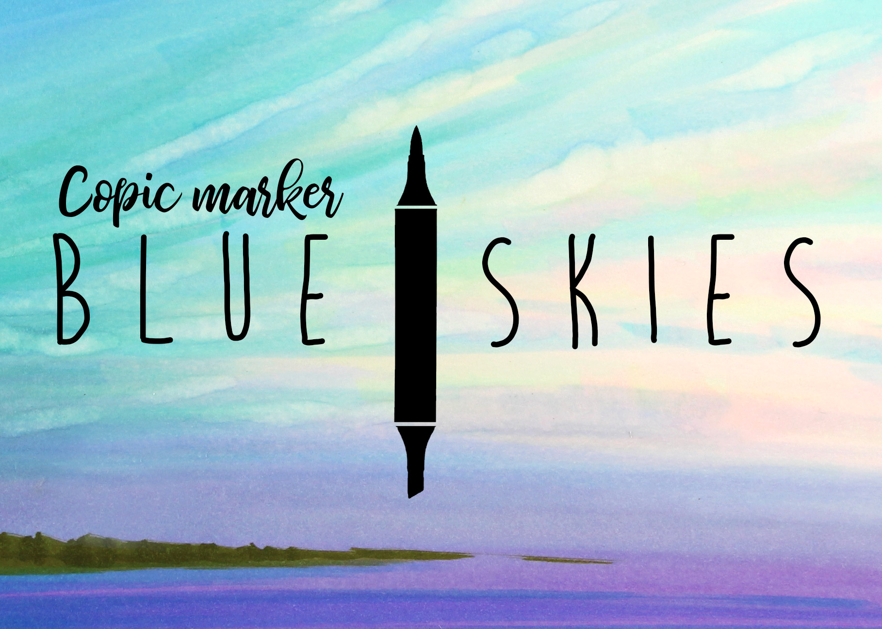 Mini Copic Course: Blue Skies
