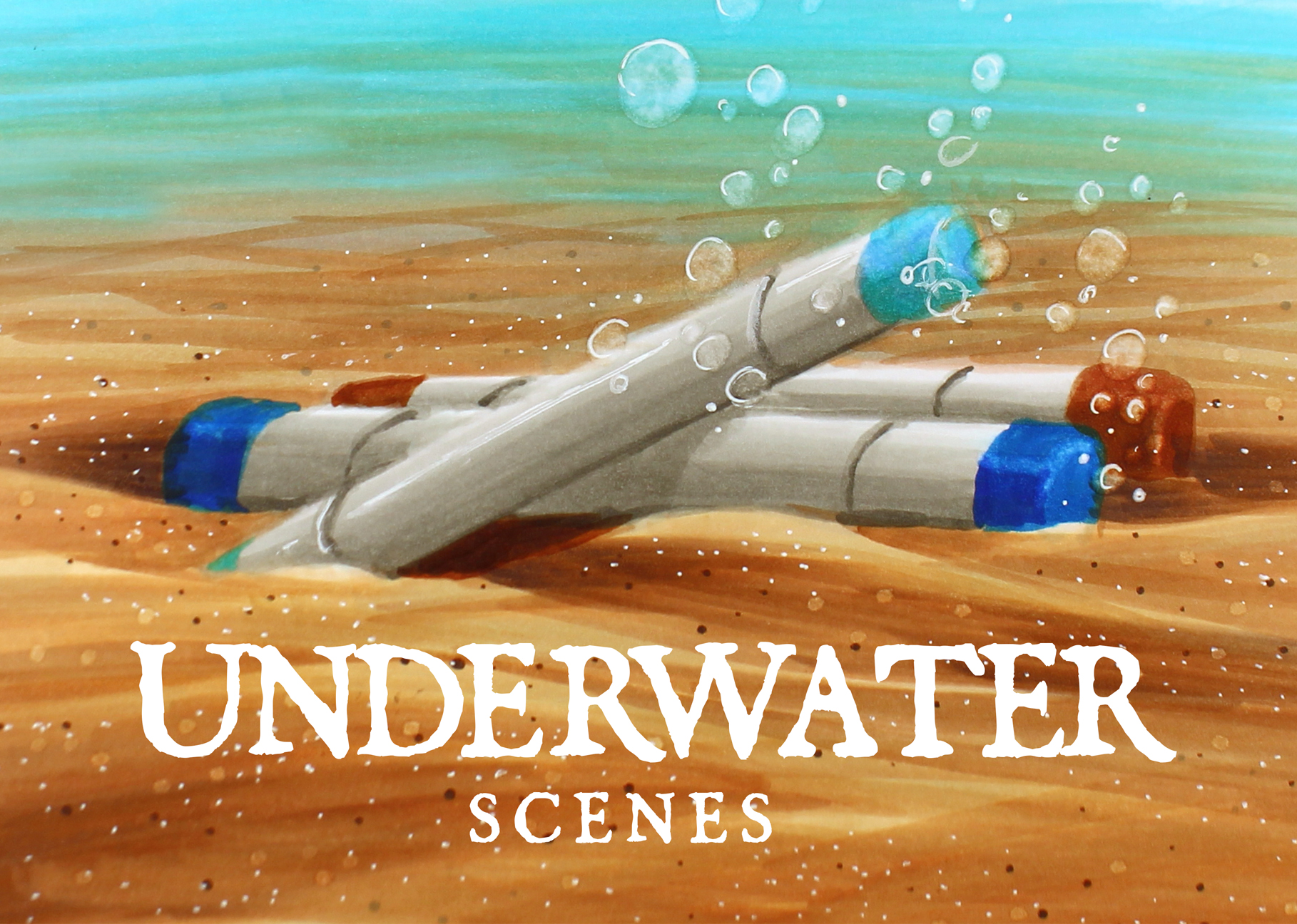 Mini Copic Course: Underwater Scenes