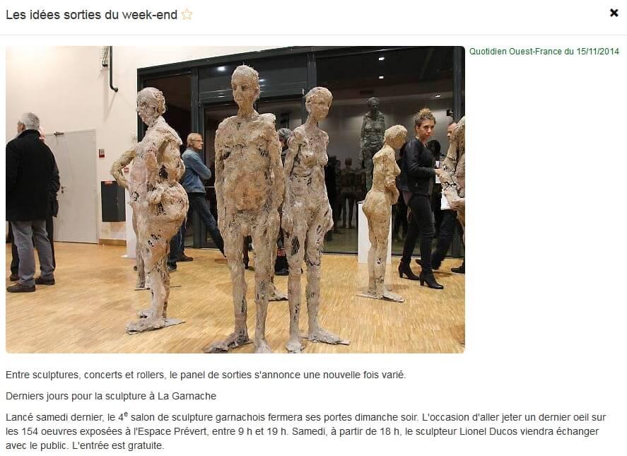 Ouest France – 15 Nov 2014