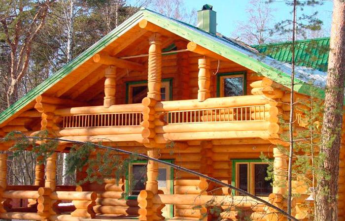 деревянных срубов