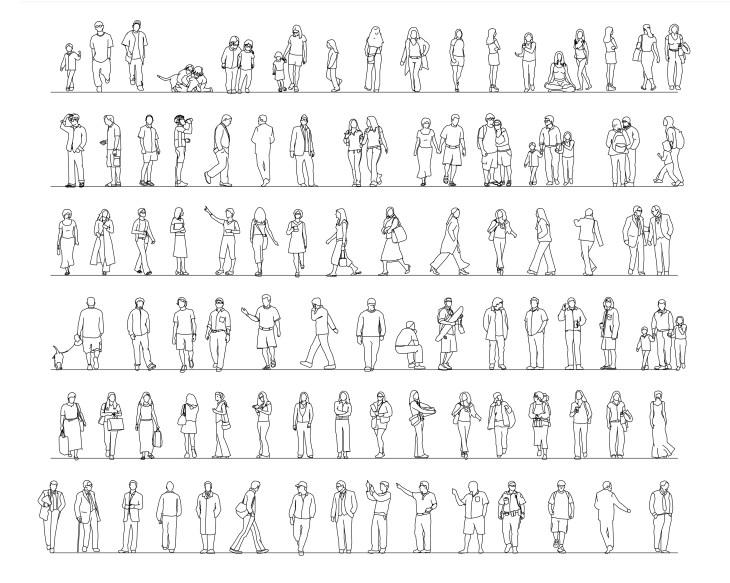 Коллекция людей стаффаж, часть 5
