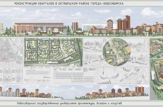 Реконструкция кварталов в октябрьском районе Новосибирска