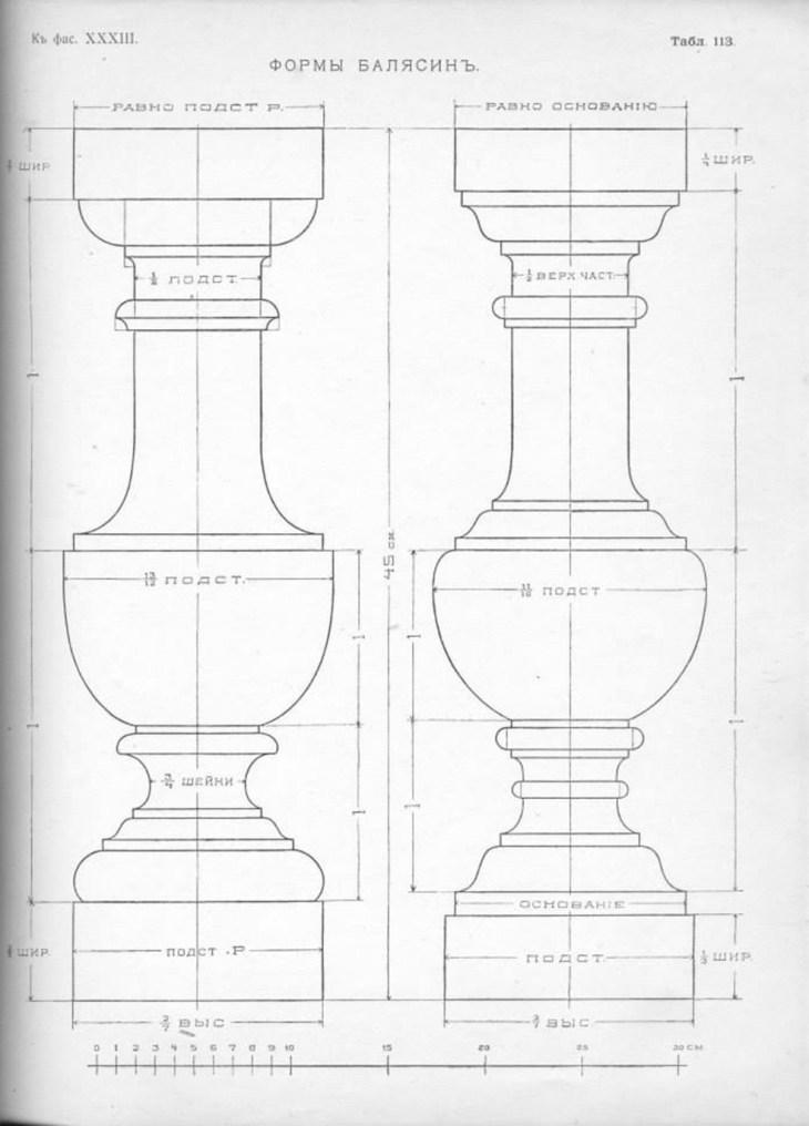 Форма балясины построение