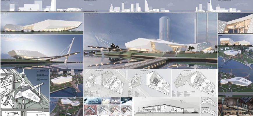 Визуальная динамика архитектурной композиции. Театральный комплекс по улице Челюскинцев в г. Екатеринбург