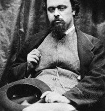 Данте Габриэль Россетти, фотография Льюиса Кэрролла, 1863.