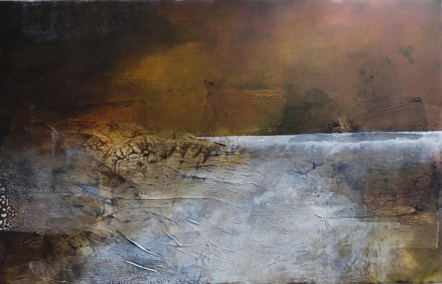 "Les cigales en exstase by Carole Kohler *********SOLD********** ""Dimension H 90 * W 140 * D 4.5 cm "" – Acrylic on Canvas – Mixed Media, natural fibers, and Pigments"
