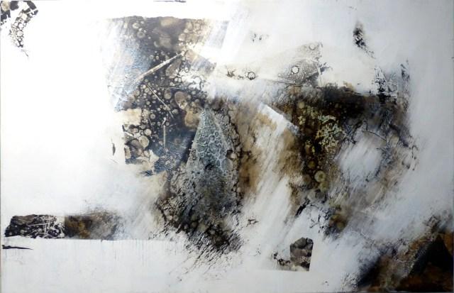 Rad-Schlag 3 by Carole Kohler - Series Rad-Schlag - W90 * H140 * D4.5 cm - Mixed media on canvas