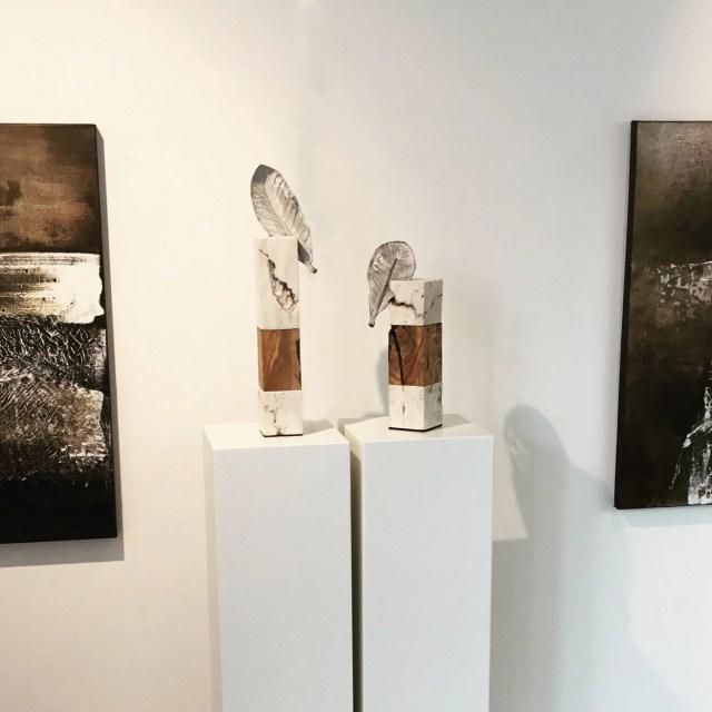 Blattwerk 1 and 2 by Carole Kohler