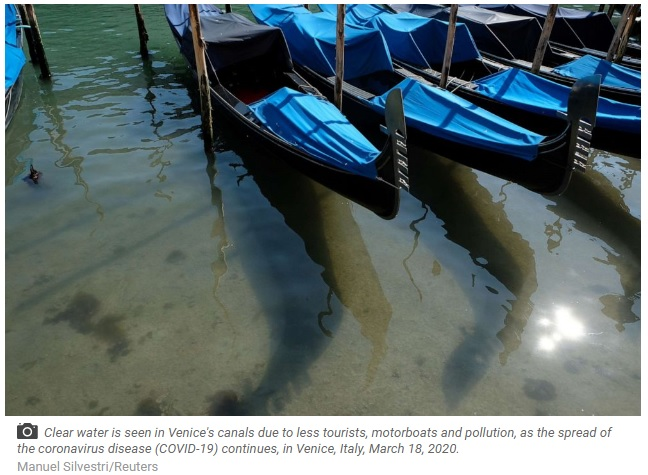 Covid-19 impact- Lake in Venice is much cleaner, than before