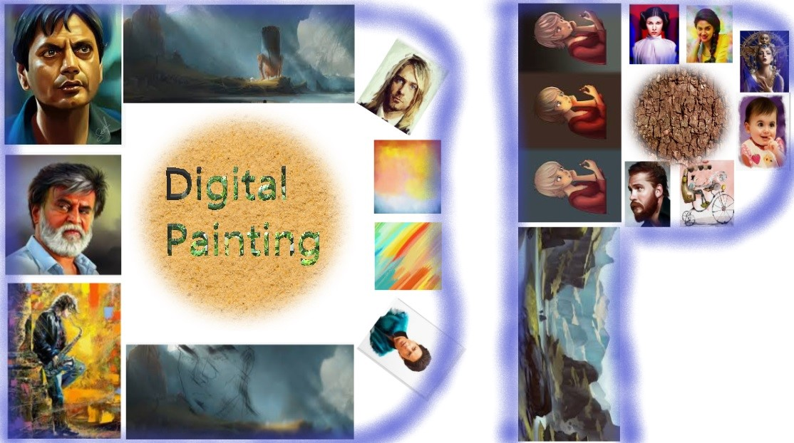 Digital Painting, an expression of computerized emotions