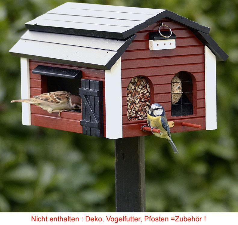 Vogelhaus Futterscheune rot WG 221 Vogel Futterhaus - Art