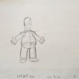 Les Simpson - dessin original - Bart - dessin animé - Galerie Art Maniak