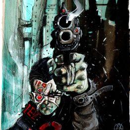 Dessin original - Blade Runner - Virginio Vona - Galerie Art Maniak