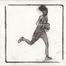 Dessin original Nicolas Debon - Marathon - Galerie Art Maniak