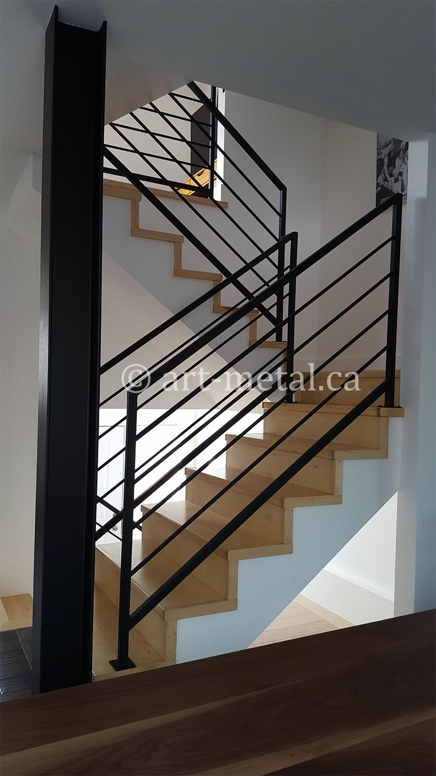 Interior Metal Stair Railing From The Best Contractor In Toronto   Iron Stair Railing Indoor   Interior Wrought   Wood   Cast Iron Balusters   Rod Iron   Railing Kits