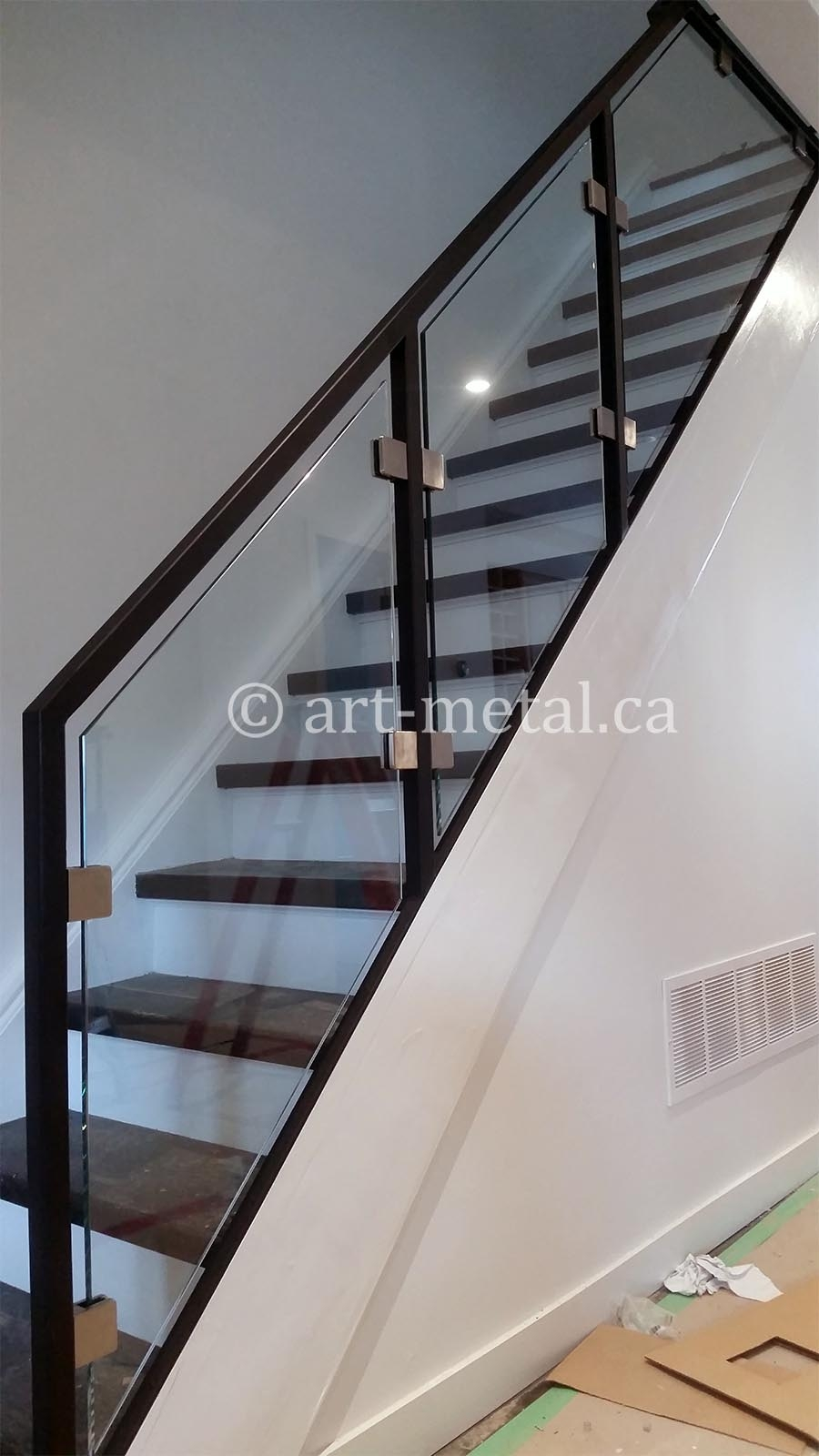 Modern Stair Railings Handrails Toronto Mississauga Gta | Modern Railing Designs For Stairs | Outdoor | Small | Interior | Stairway | Inside Staircase