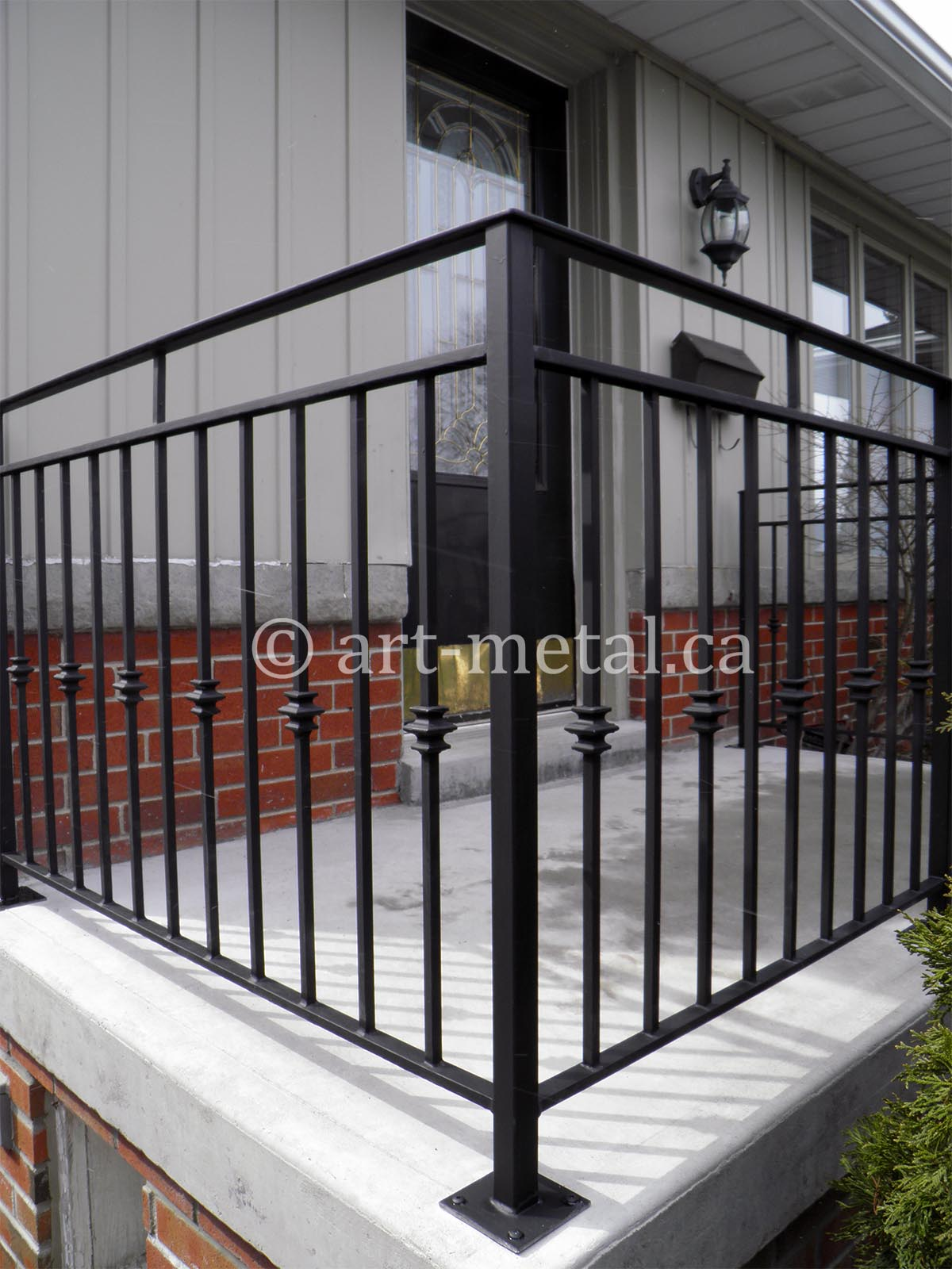 Outdoor Porch Railing Designs From Wood Wrought Iron And