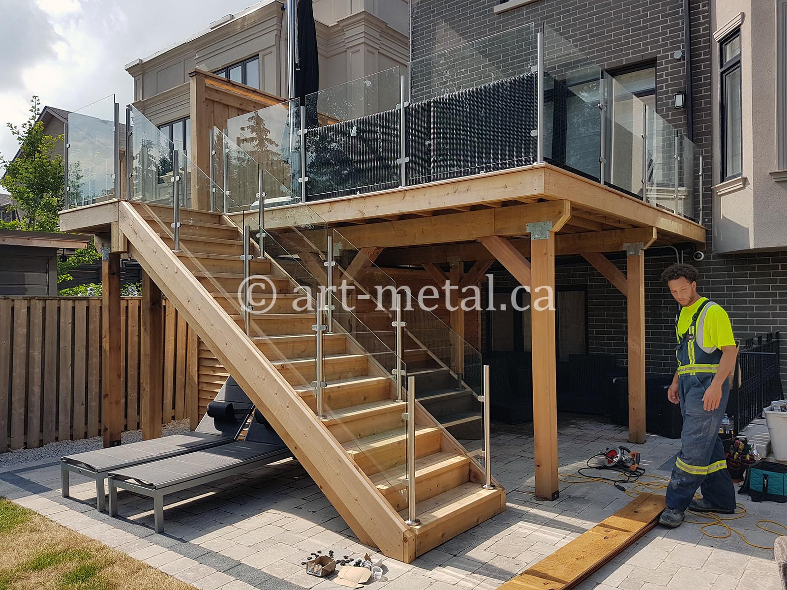 Deck Safety Railing
