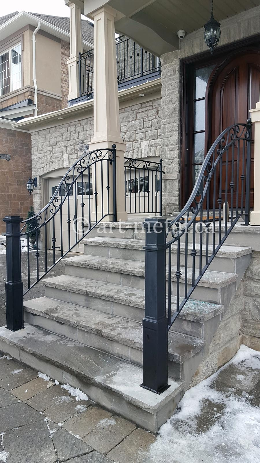 Best Exterior Wrought Iron Stair Railings You Can Get In Toronto | Wrought Iron Railings For Outside Steps