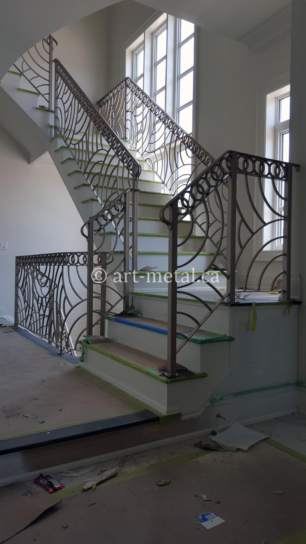 Elegant and Modern Interior Wrought Iron Railings for Stairs