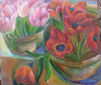 ArtMoiseeva.ru - Flowers - Red still life