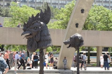 ai weiwei zodiac heads bronze in nathan phillips square toronto_7