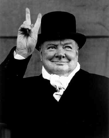 Уинстон Черчилль, Ливерпуль, 1951. Фото Альберта Айзенштедта