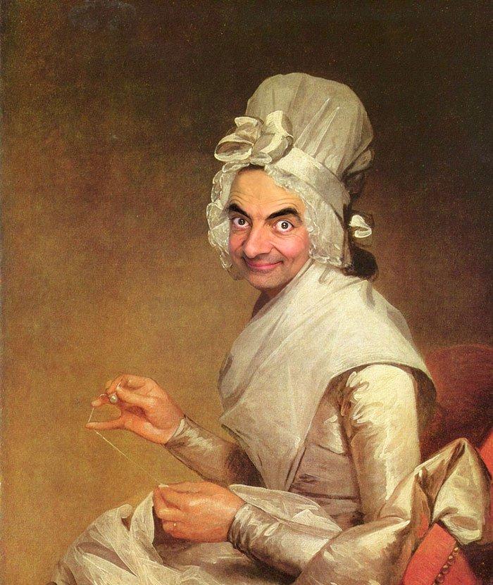 Мистер Бин в исторических полотнах знаменитых художников