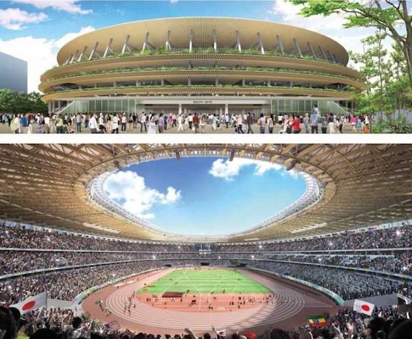 Новый проект стадиона в Токио от Кенго Кума