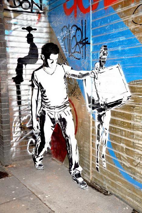 Герои, сошедшие с граффити от художницы Алексы Мид-3