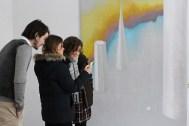 Виталий Кохан, Ольга Чекотовская, Катерина Кубицкая на открытии выставки